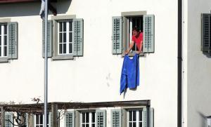 Die blaue Fahne zum Abschied...