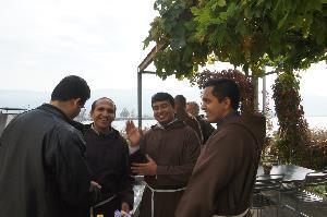 Begegnungen auf der Klosterterrasse