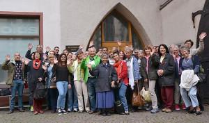 Die Ehrenamtlichen des Franziskustreff auf ihrem Jahresausflug.