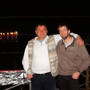 Br. Adrian und Br. Marc - hier mit Blitz.