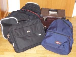 Das Gepäck steht bereit.