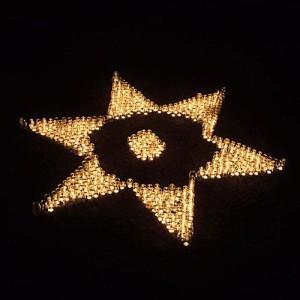 Der Stern - das Werk vieler Menschen an der Oase.