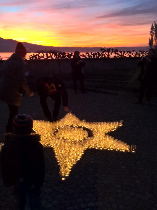 Kerzen-Stern im Klostergarten 4