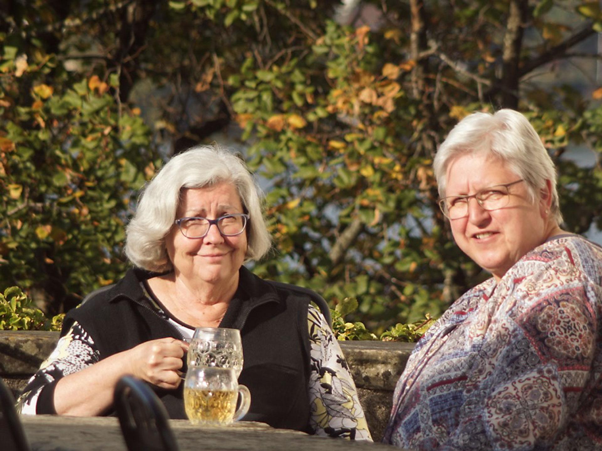 Yolanda Bärtschi und Schwester Christine.