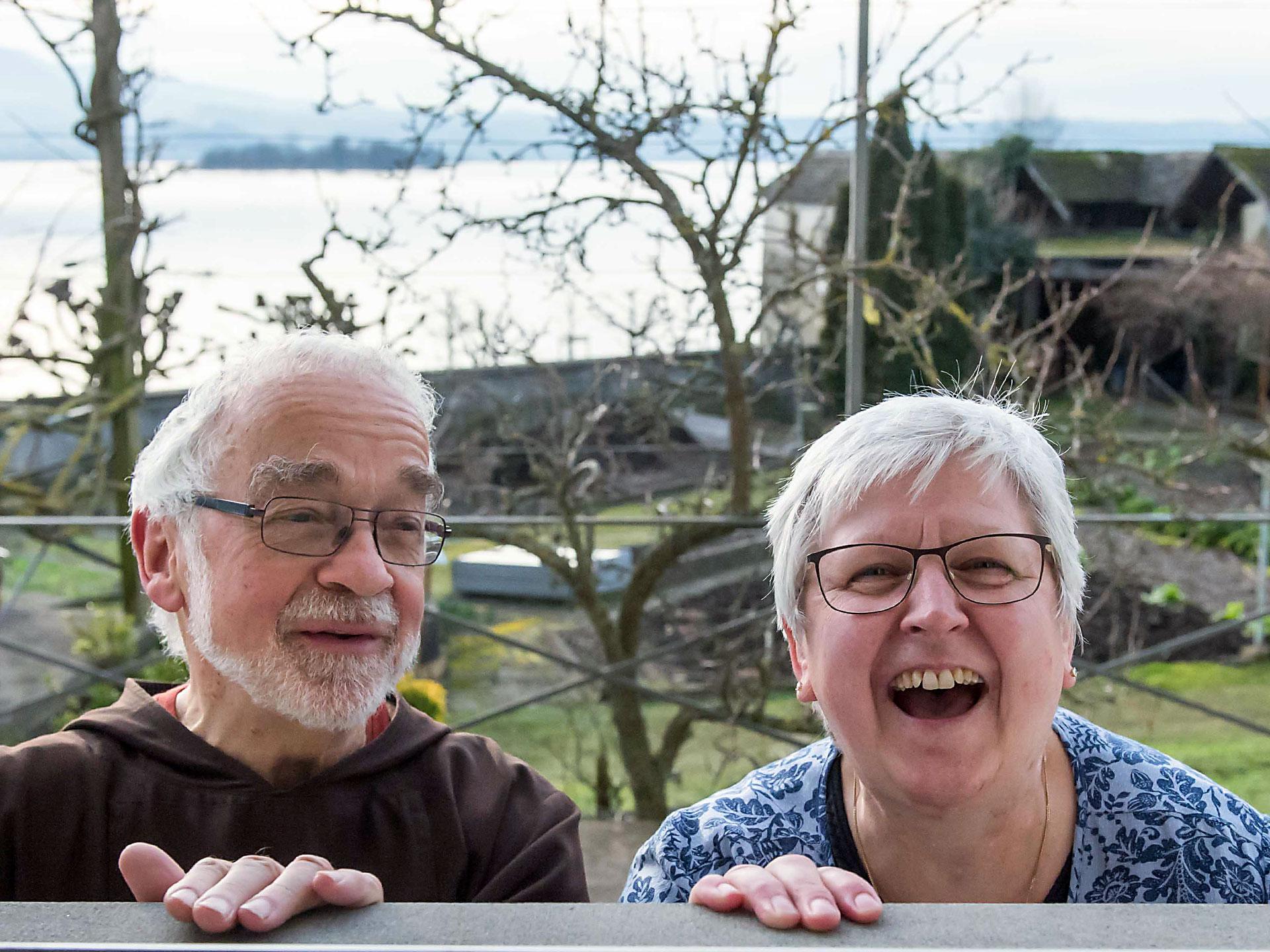 Bruder Paul und Schwester Christine.